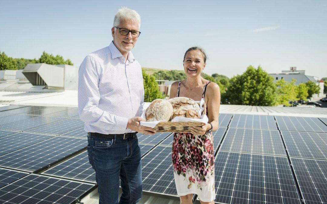 Die Bäckerei Felber produziert ab sofort CO2 –neutralen Strom mit eigener Photovoltaik-Anlage